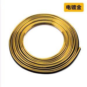 نوار براق طرح ال وایر بدون برق پک 5 متری (رنگ طلایی)