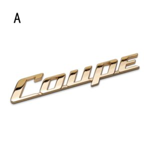 آرم اسپرت Coupe طلایی