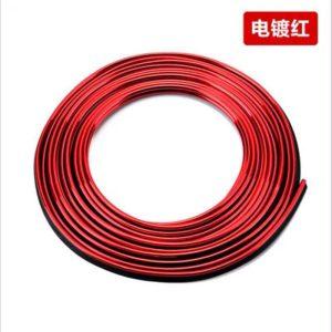 نوار براق طرح ال وایر بدون برق پک 5 متری (رنگ قرمز)